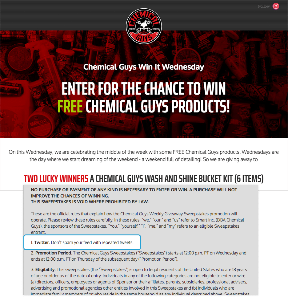 Free sweepstakes entries giveaway