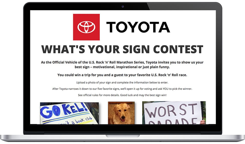 "Toyota's ""What's Your Sign?"" Contest"