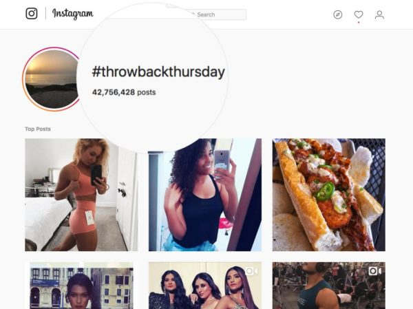 #throwbackthursday for hashtag contest