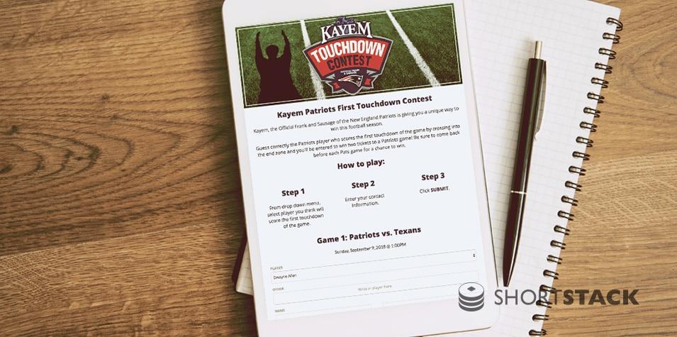 Football-Themed Interactive Marketing Campaign Ideas
