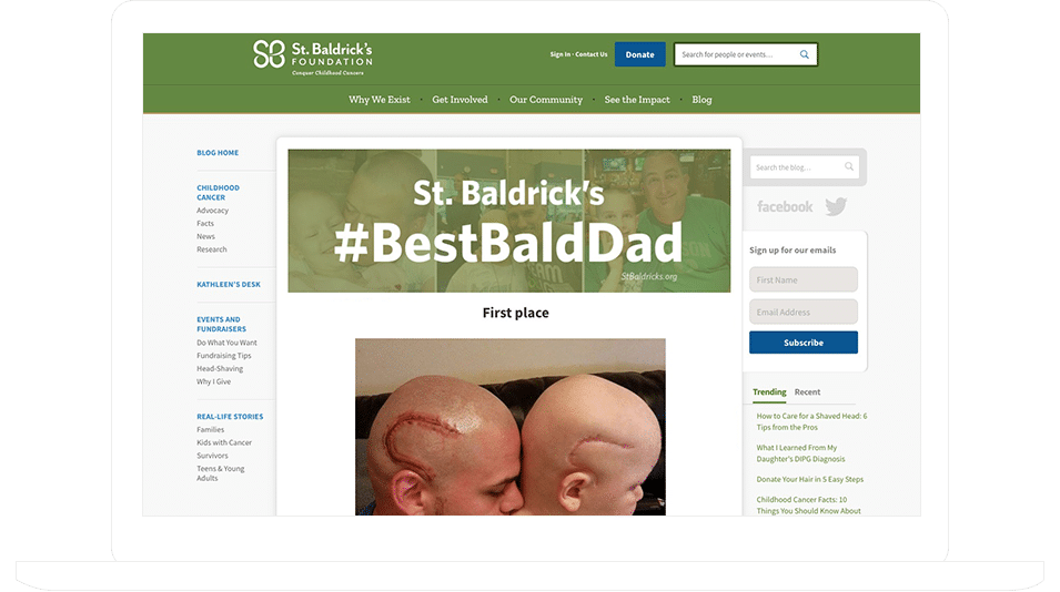 St. Baldrick's Foundation's #BestBaldDad Father's Day Contest