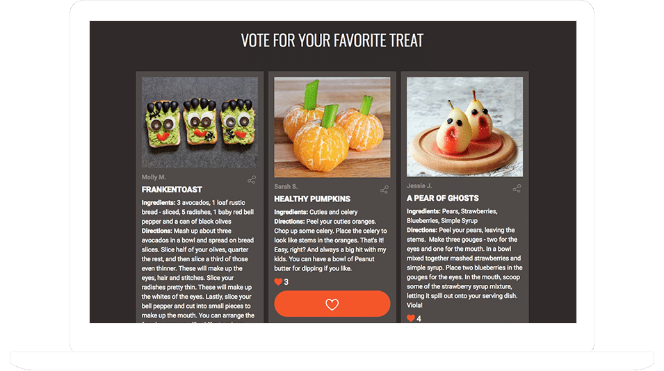 Recipe Submission and Voting Contests