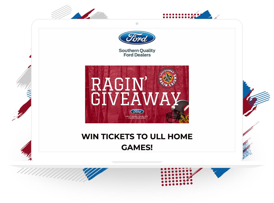 "Southern Quality Ford's ""Ragin' Giveaway"""