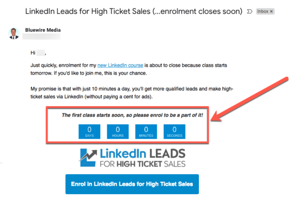 Create urgency with a countdown timer to boost your sales this back friday