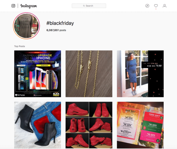black friday for holiday hashtags