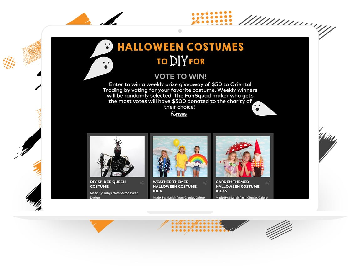 "Oriental Trading Company's ""Halloween Costume to DIY For"" Vote to Enter Contest"