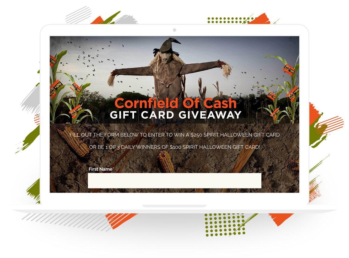 "Spirit Halloween Superstores' ""Cornfields of Cash"" Gift Card Giveaway"