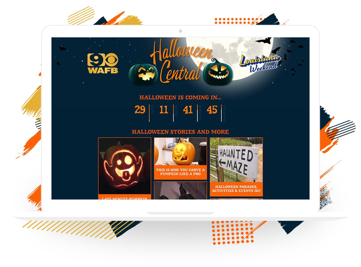 WAFB's Halloween Central Landing Page