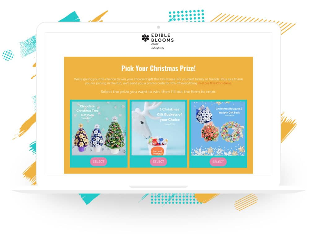 """Edible Blooms NZ's """"Pick Your Christmas Prize"""" Campaign"""