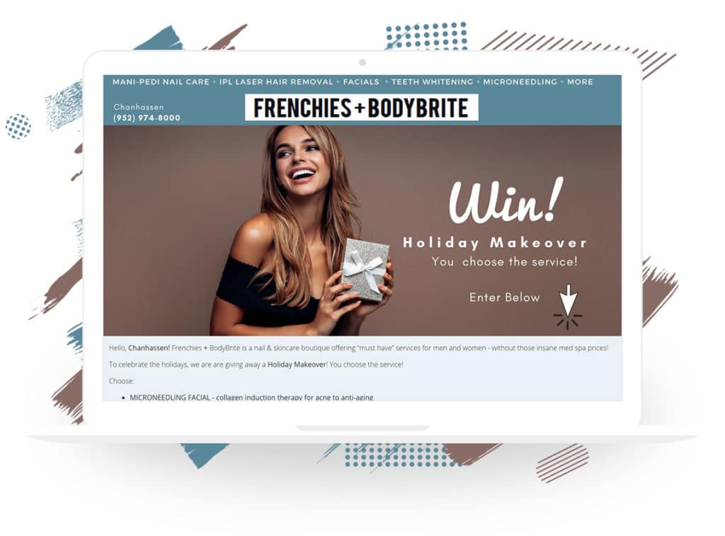 "Frenchies + BodyBrite's ""Win a Holiday Makeover"" Giveaway"