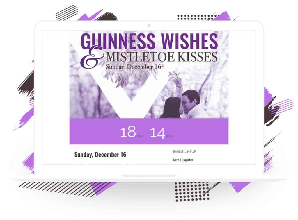 """Yelton Fine Jewelers' """"Guinness Wishes and Mistletoe Kisses"""" Event Landing Page"""