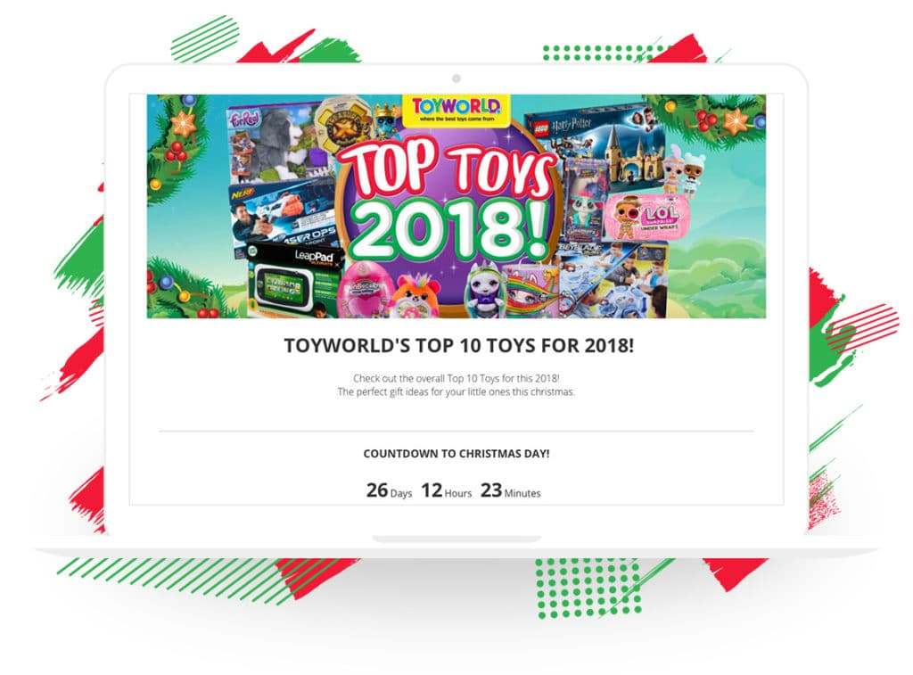"Toyworld's ""Top 10 Toys for 2018"" Campaign"