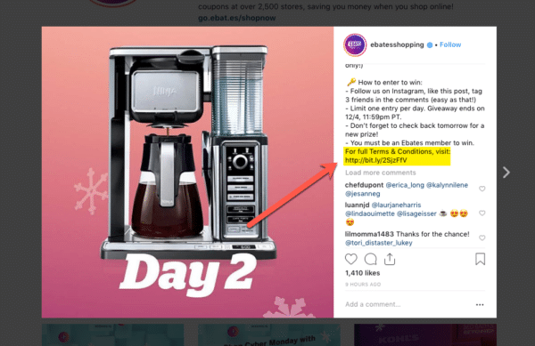 Separate Websites for Displaying Contest Rules for Instagram Contest Rules You Should Never Ignore