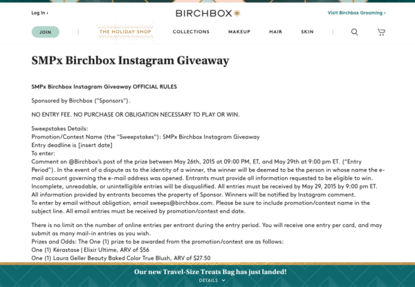 birchbox for Instagram Contest Rules You Should Never Ignore