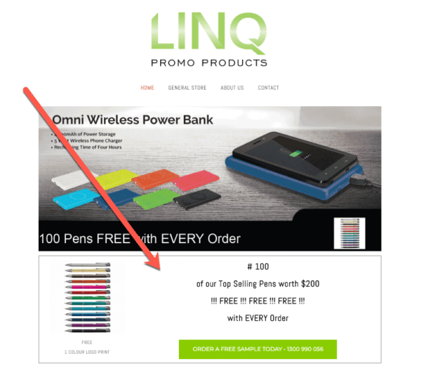 Free samples or low priced products like LINQ promo products for eCommerce Promotion Ideas