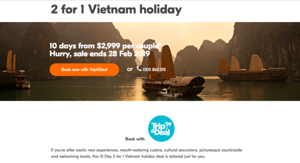 Multi-purchase deals like Trip a Deal for eCommerce Promotion Ideas
