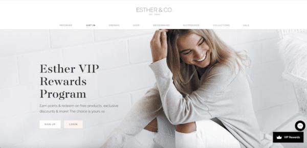 Start a loyalty program like Esther for eCommerce Promotion Ideas