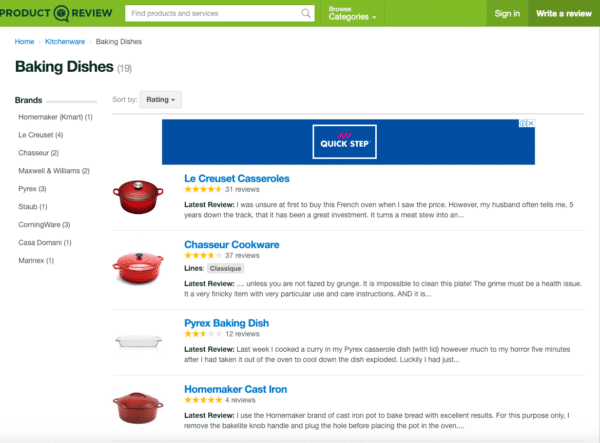 Tap into product comparison sites like product Review for eCommerce Promotion Ideas
