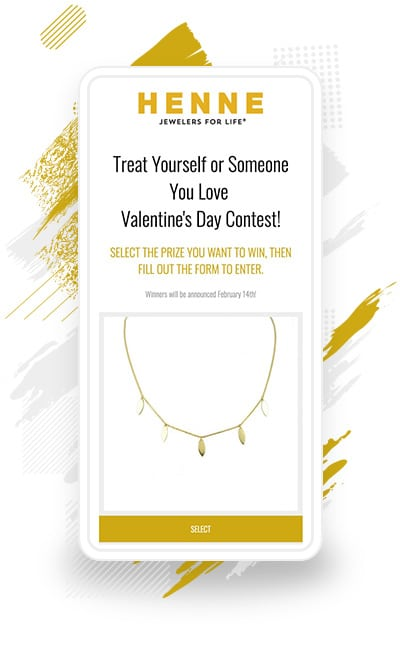 Henne Jewelers' Pick Your Prize Valentine's Day Contest