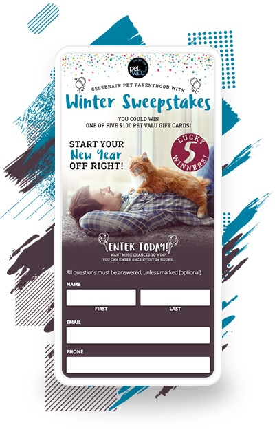 "Pet Valu's ""Celebrate Pet Parenthood"" Winter Sweepstakes"