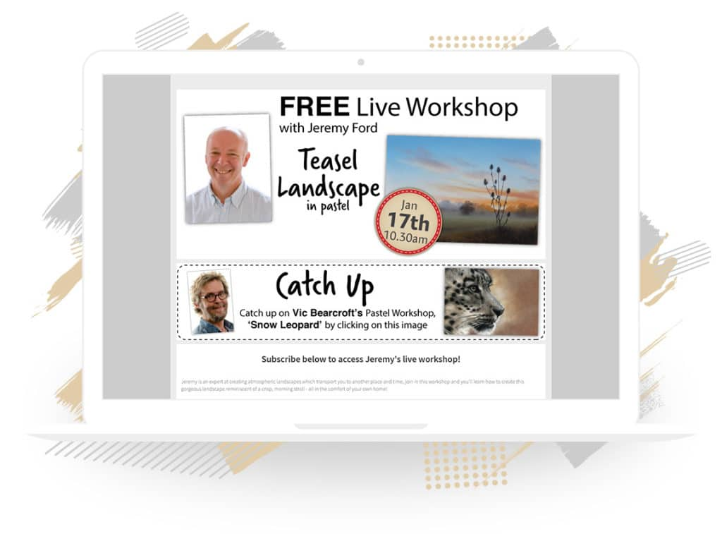 "SAA's ""Free Live Workshop with Jeremy Ford"" Sign-Up Form"