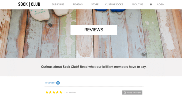 Subscription service Sock Club for Powerful Following for Your eCommerce Business