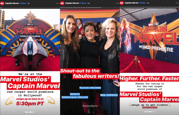 Marvel Behind-the-scenes for Instagram Stories in your Marketing