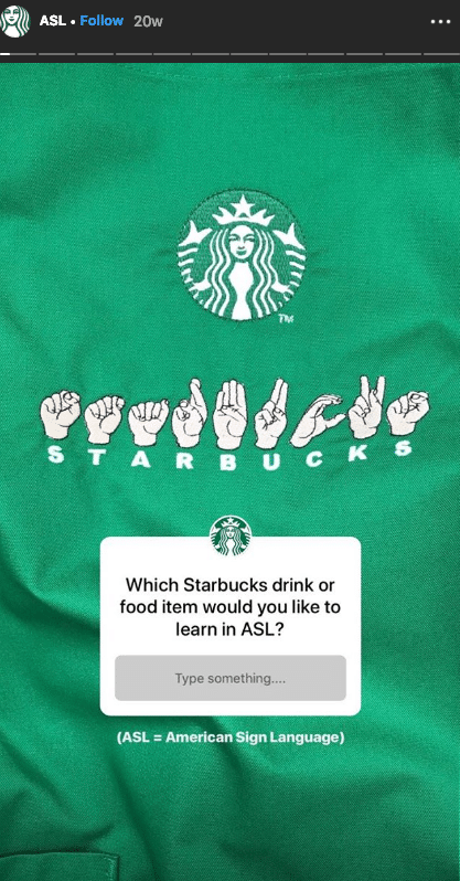Starbucks for Instagram Stories in your Marketing