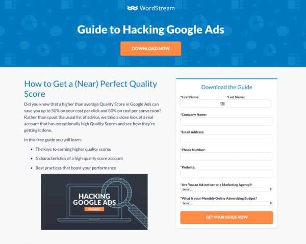 Guide to Hacking Google Ads from WordStream for Lead Generation Campaign