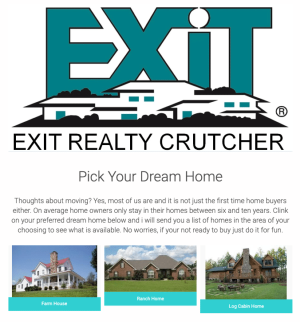 Survey or Quiz with Incentive like Exit realty for Leads Going Cold