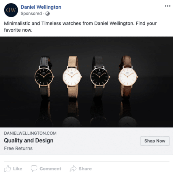 eCommerce Facebook ad examples - image 4