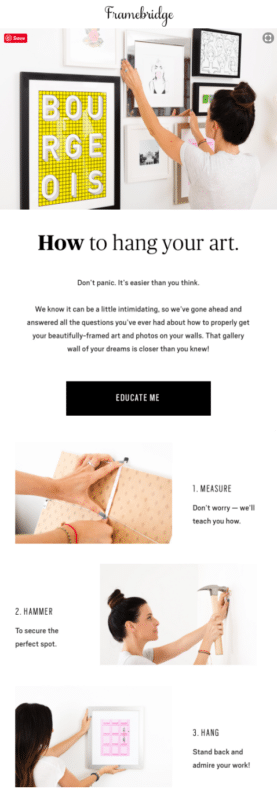 Framebridge for Email Marketing