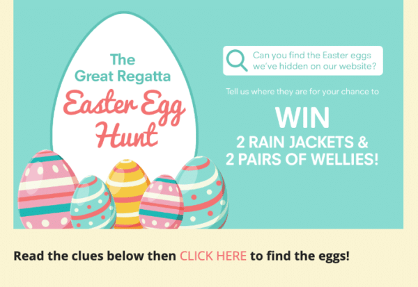 Gamified prizes like easter egg hunt for Contest Marketing
