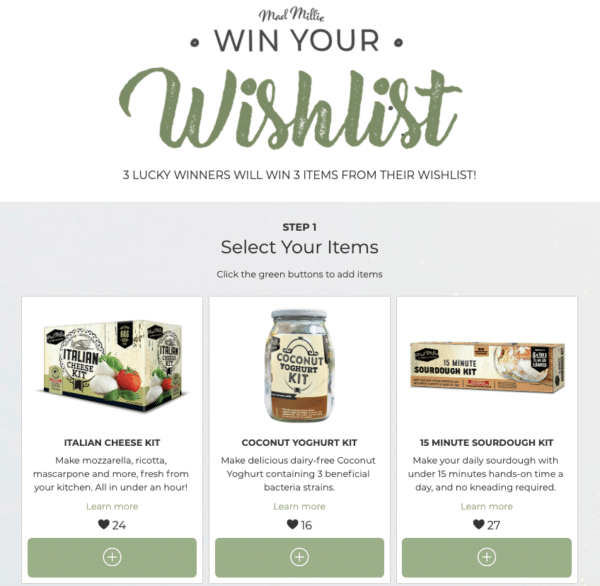 Wishlist for Creative Social Media Contests