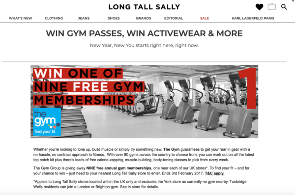 long tall sally for Contest Marketing