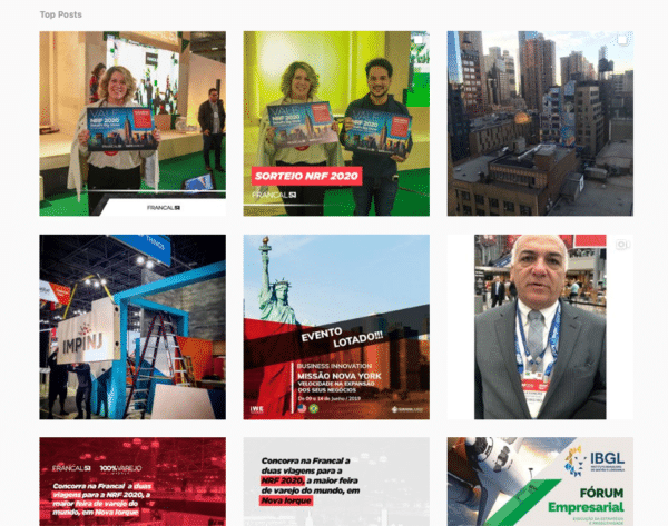 Retail Conference collated social proof for 2020 conference under hashtag #nrf2020 for Event Marketing ROI