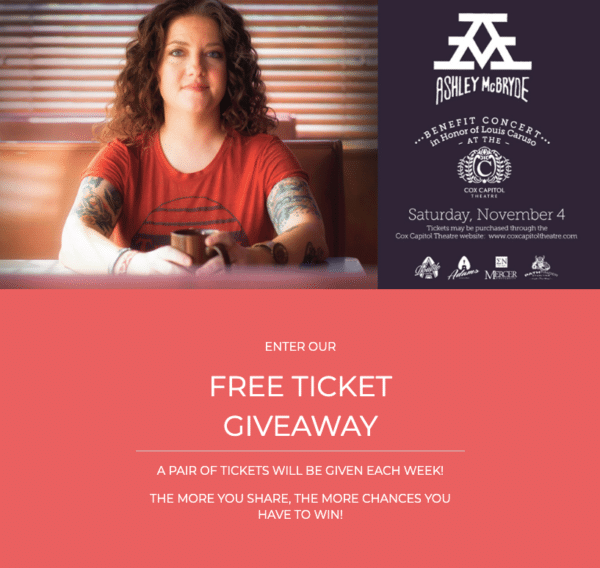 free ticket giveaway of pre-event contests for Event Marketing ROI