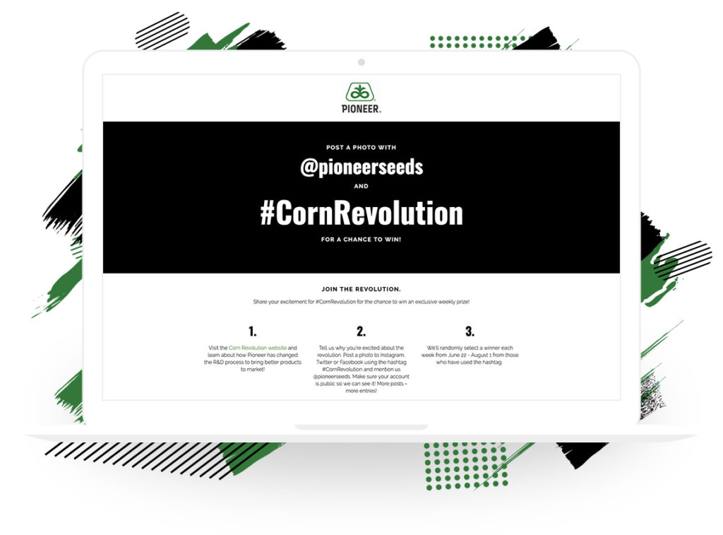 "Pioneer Seeds's ""Corn Revolution"" Hashtag Sweepstakes"