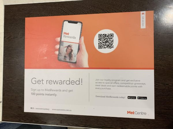 Join reward program using QR Codes