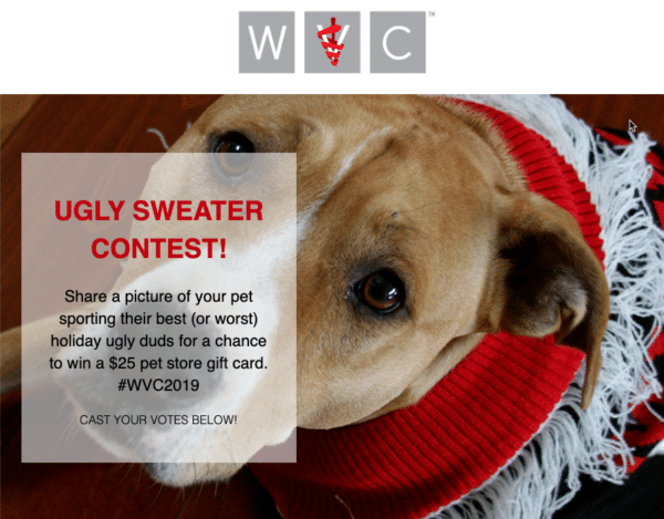 Gift Cards from WVC for Holiday Season Contest