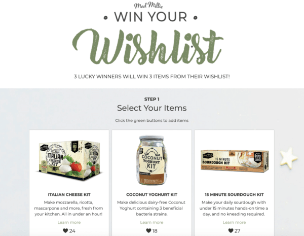 Mad Millie Win Your Wishlist for Holiday Season Contest