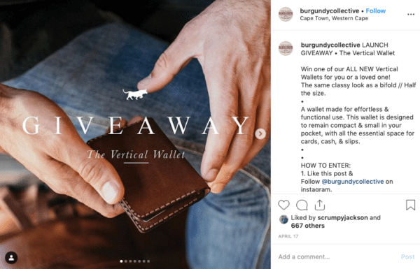 Burgundry Giveaway for A Brand New Style for Business Growth