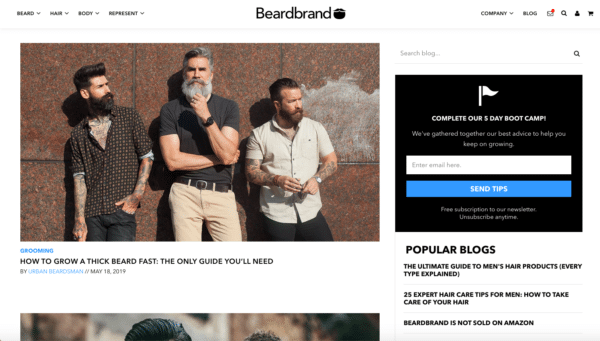 Beardbrand for Content Marketing for Business Campaign Plan