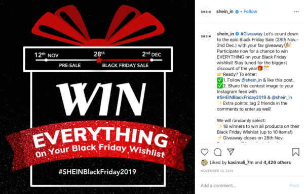 Black Friday Sale Banner for Instagram Contests