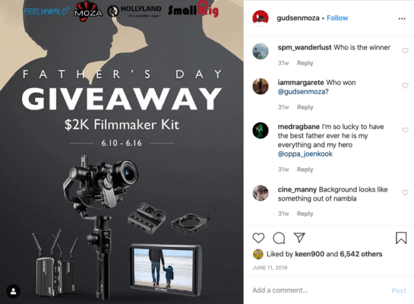Filmmaker Kit for Father's Day Instagram Contests