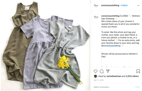 Girl Kid's Clothes for Mothers Day Instagram Contests