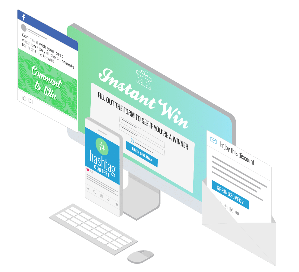 Break through the noise with one-of-a-kind landing pages and contests that grab your customers' attention.