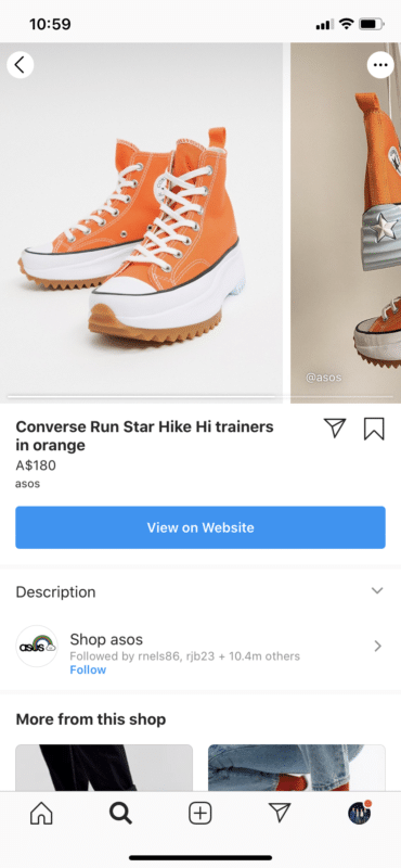 Asos shop view product Orange Converse Run Start shoes