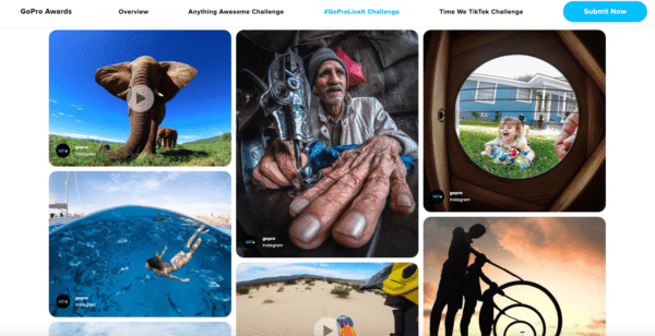 GoPro Awards Site User-Generated Content (UGC)