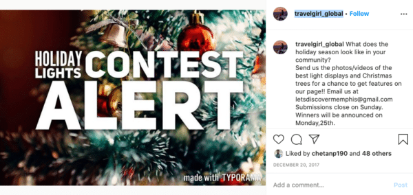 Holiday Lights Contest Alert Travelgirl_Global Christmas Promotion